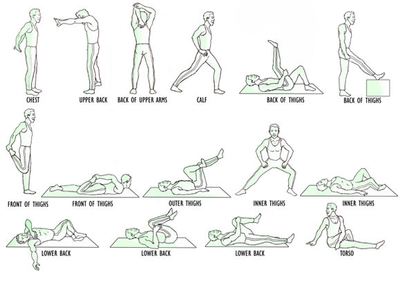 stretching exercises at home to do